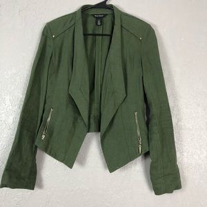 White house black market army green blazer
